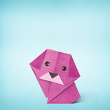 Origami dog made from Recycle Paper