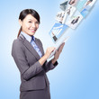 business woman work with tablet pc