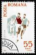 Postage stamp Romania 1965 Running, Spartacist Games