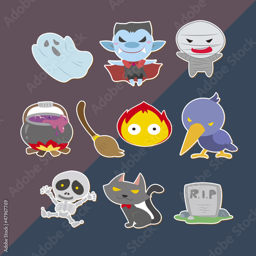 cute helloween stickers