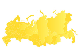 Vector map of the Russian Federation