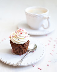 Cupcake with creamcheese icing