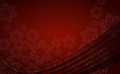 red abstract xmas background with snowflakes, vector