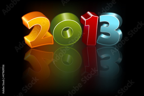 New 2013 year greeting card, vector