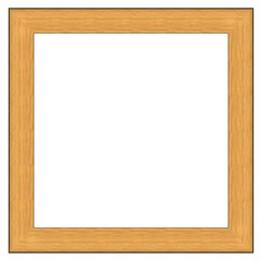 Wood portrait frame