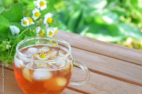 iced tea with chamomile