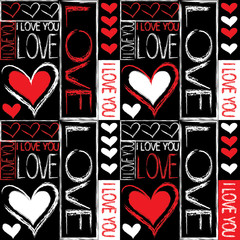 Seamless pattern of love