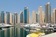 Dubai Marina Yacht and Skyscrapers