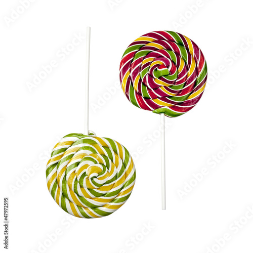Two opposite lollipops