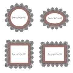 frame border with Lace, vector