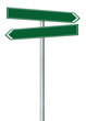 Right left road route direction pointer this way signs green