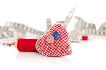 Pincushion in shape heart