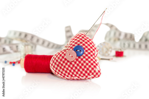 Pincushion in shape heart