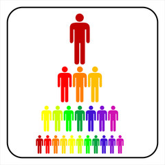 colorful Organizational corporate hierarchy business  man, vecto
