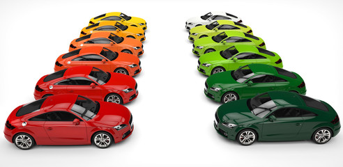 Red And Green Cars Pallette