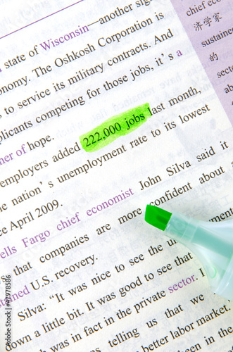 Highlighter and book