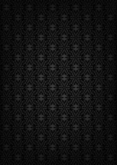 Black abstract floral texture
