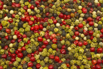 Textura con distintos tipos de pimienta.