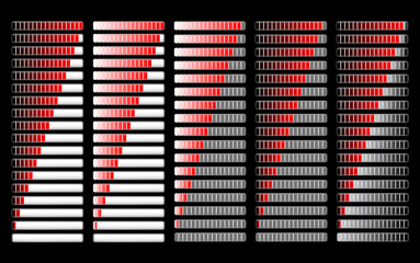 red different loader progress bar, vector
