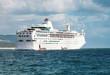 cruise ship in navigation