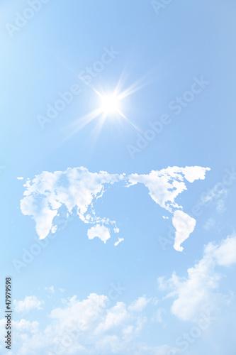 世界地図の雲