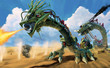 龍型戦車 砂漠の戦闘