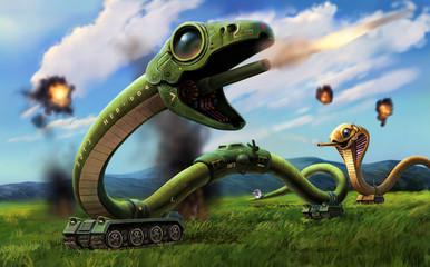 ヘビ型戦車 草原の戦闘