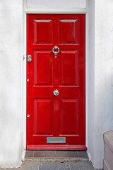 Retro red door