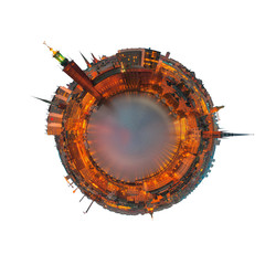 Planet Stockholm isolated on white