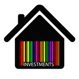 investment HOUSE BARCODE , vector poster