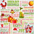 vector illustration of Christmas background with typography