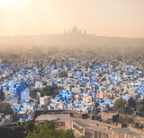 blue city Jodhpur and palace view, India