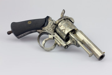 Antique pinfire revolver