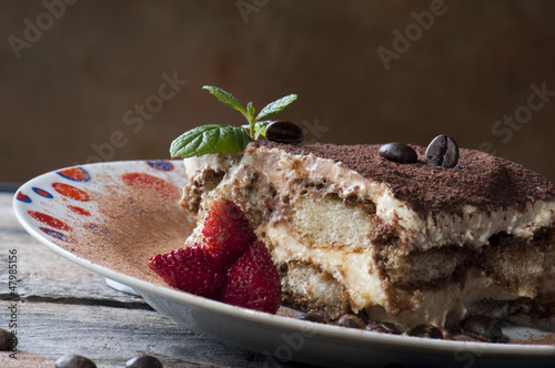 Italian dessert with berries