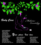 Medicine cosmetology.Body care.Spa.Vector poster