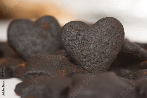 Burned Cookie Hearts