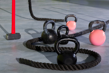 Crossfit Kettlebells ropes and hammer
