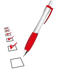 check list & pen