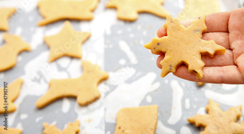 Snowflake shape Christmas cookie
