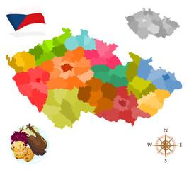 Map of Czech Republic, regions