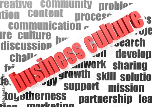 Business work of business culture