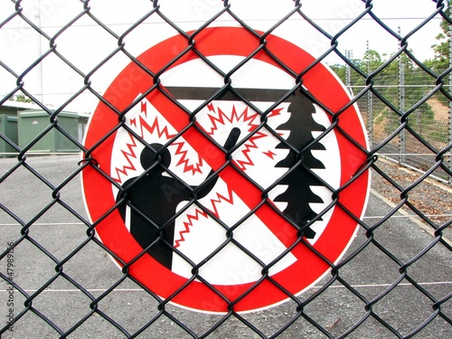 High Voltage Fence sign 1
