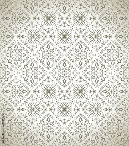 Seamless damask wallpaper and pattern