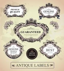 Vintage framed labels