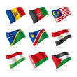 Set of world flags 6