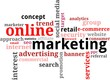 word cloud - online marketing