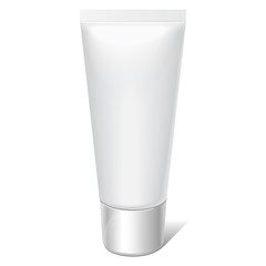 Realistic tube. For cosmetics, cream, tooth paste,