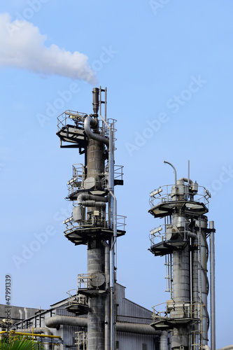 Industrial with factory chimney