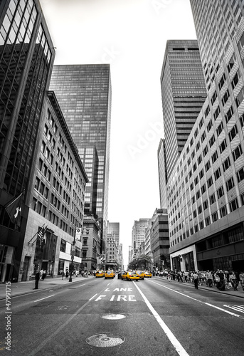 Papiers peints New York TAXI new york et son avenue