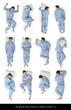 Leinwandbild Motiv Sleeping positions